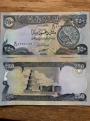 5000 IRAQI DINAR (20) 250 NOTES hard to find!! UNCIRCULATED!! AUTHENTIC! IQD!@