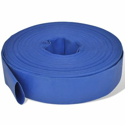 New 50 m 2 Inch PVC Water Delivery Flat Hose Blue Pumping Irrigation Discharge