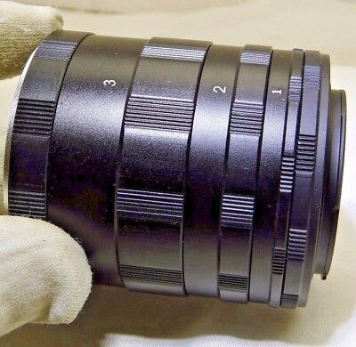 Macro Extension tube set for Nikon F Ai Lens cameras  for 1:1 close-ups