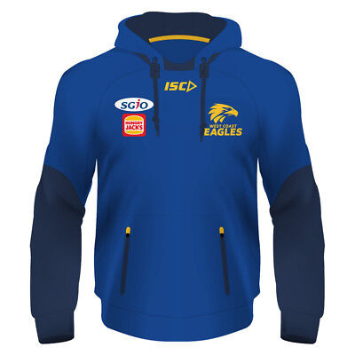 West Coast Eagles AFL 2018 ISC Players Squad Hoody Size S-5XL! In Stock!