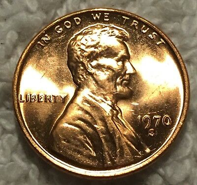 1970-S Lincoln Cent Unc Pulled From Obw Roll From Old Safe Collection Wow Look