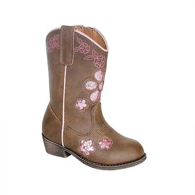 NEW Toddler Girls Cowboy Boots Size 7 8 9 10 or 11 Glitter Flowers Cowgirl
