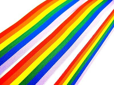 RAINBOW GAY PRIDE GROS GRAIN RUBAN par le compteur 10mm/25mm/35mm