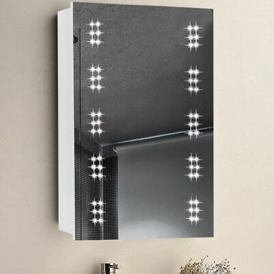 led illuminated bathroom cabinet mirror clock with shaver socket