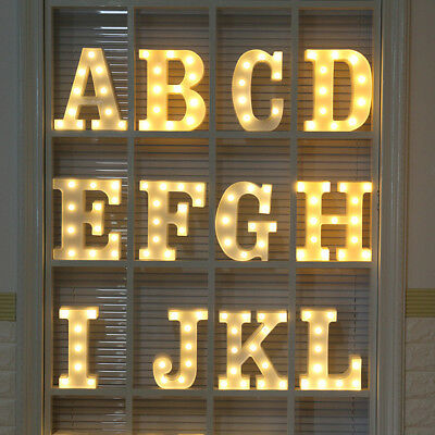 Alphabet LED Letter Lights LED Light Up White Plastic Letters Standing/ Hanging