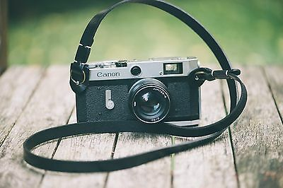 Leather Camera Strap | Vintage Black
