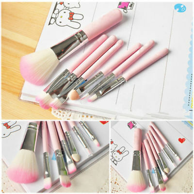 Professional 32 Pcs Make Up Brush Set Eye Cosmetic Brushes Case Pink black blue