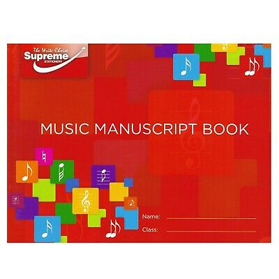 Silvine Music Manuscript Homework Book Exercise Notebook A4 24 Pages RRP £2.99