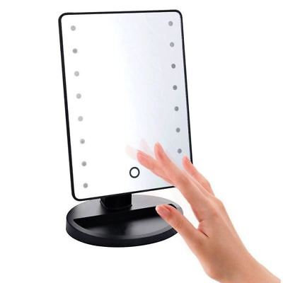 Makeup Mirror 16 LEDs Lighted Cosmetic Mirror Adjustable Vanity Tabletop Counter