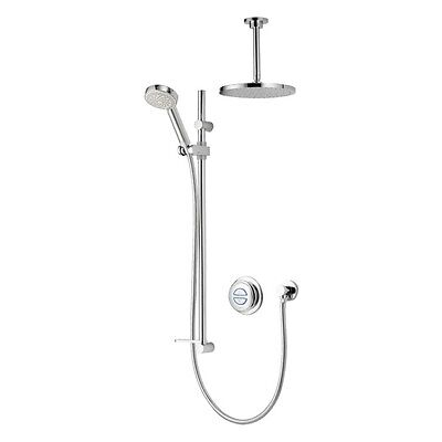 Aqualisa Quartz Digital Shower Dual Concealed Gravity Pumped QZD.A2.BV.DVFC.14