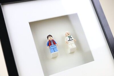 Back To The Future, Doc Brown And Marty McFly LEGO Minifigure Art Frame