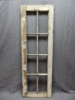 Antique 8 Lite Casement Barn Window 47x16 Old Shabby Cottage Vtg Chic 576-18P