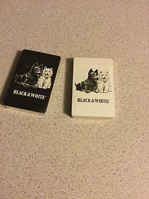Black & White Scotch Whiskey Advertising Card Deck Playing Cards, New Sealed