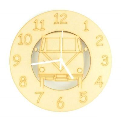 Childrens-Wooden-VW-Camper-Themed-Clock-Kids-Toddlers-Chils-Nursery-Furniture