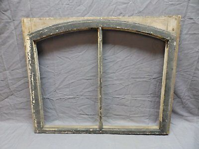 Antique Semi Arched Dome Top 2 Lite Window Sash 23x28 Early Vtg Old 579-18P