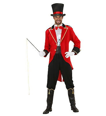 Tamer Ring Master Circus Fancy Dress Costume Male Adult Jacket Trousers Hat