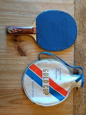 GOLD CUP TABLE TENNIS BATS pair bat set original packet 99p no ...