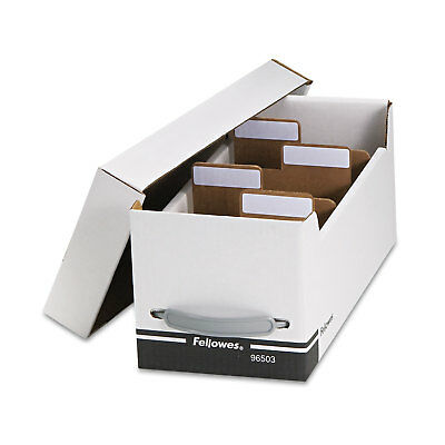 Fellowes Corrugated Media File Holds 125 Diskettes/35 Standard Cases White/Black