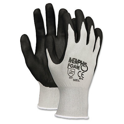Memphis Economy Foam Nitrile Gloves Medium Gray/Black 12 Pairs 9673M
