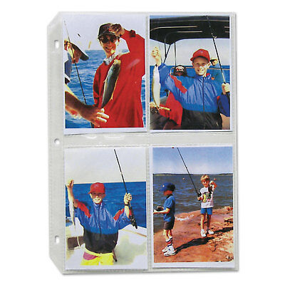 C-Line Clear Photo Pages for 8 3-1/2 x 5 Photos 3-Hole Punched 11-1/4 x 8-1/8