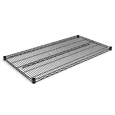 Alera Industrial Wire Shelving Extra Wire Shelves, 48w x 24d, Black, 2 Shelves