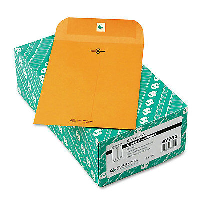 Quality Park Clasp Envelope 6 1/2 x 9 1/2 32lb Brown Kraft 100/Box 37763