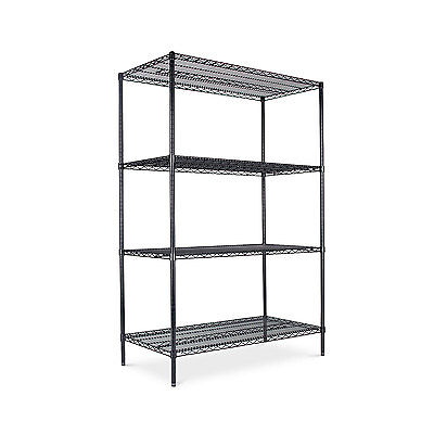 Alera Industrial Heavy-Duty Wire Shelving Starter Kit 4-Shelf 48w x 24d x 72h