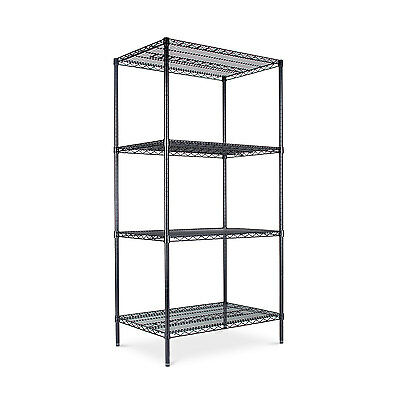 Alera Industrial Heavy-Duty Wire Shelving Starter Kit, 4-Shelf, 36w x 24d x 72h,