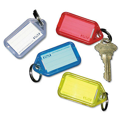 Securit Extra Color-Coded Key Tags for Key Tag Rack 1 1/8 x 2 1/4 Assorted 4