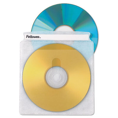Fellowes Two-Sided CD/DVD Sleeve Refills for Softworks File 25/Pack 90661
