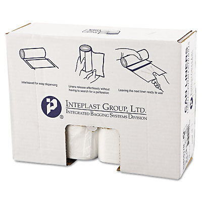 Inteplast Group High-Density Can Liner 38 x 60 60gal 17mic Clear 25/Roll 8 Rolls