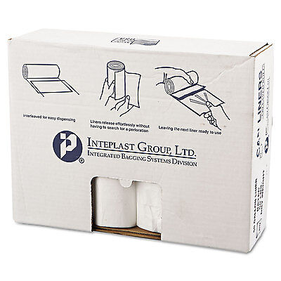 Inteplast Group High-Density Can Liner 38 x 58 60gal 14mic Clear 25/Roll 8 Rolls