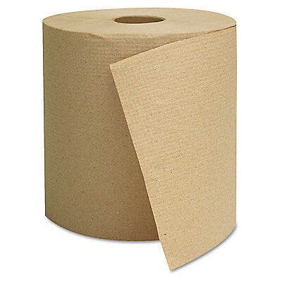 GENERAL SUPPLY Hardwound Towels Brown 1-Ply Brown 800ft 6 Rolls/Carton 1825