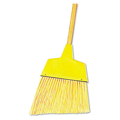 "Boardwalk Angler Broom Plastic Bristles 53"" Wood Handle Yellow 12/Carton 932ACT"