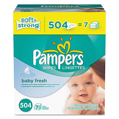 Pampers Baby Fresh Wipes White Cotton 504/Carton 28250CT