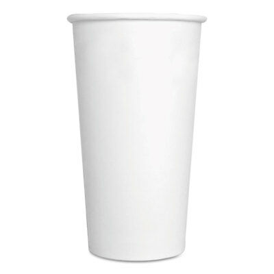 GEN Paper Hot Cups 20 oz White 500/Carton 20HOTCUPWH