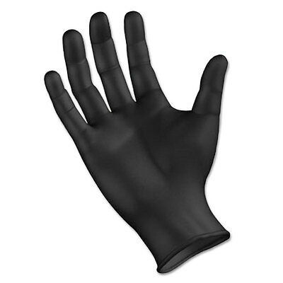 Boardwalk Disposable General Purpose Powder-Free Nitrile Gloves L Black 4.4mil