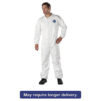 DuPont Tyvek Elastic-Cuff Coveralls HD Polyethylene White 2X-Large 25/Carton