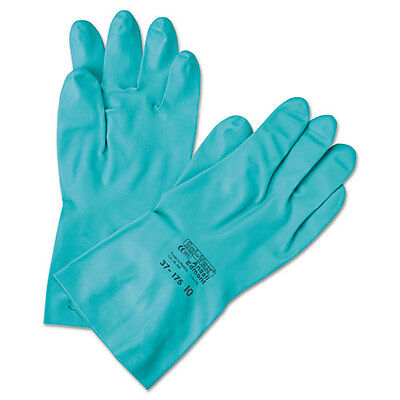 AnsellPro Sol-Vex Sandpatch-Grip Nitrile Gloves Green Size 8 371858