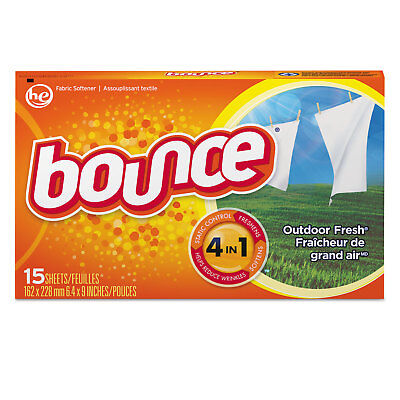 Bounce Fabric Softener Sheets Outdoor Fresh 15/Box 15 Box/Carton 95860CT