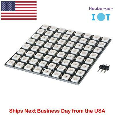 8x8 64 WS2812 LED 5050 WS2812B RGB Matrix for Arduino Pixel Library Compatible
