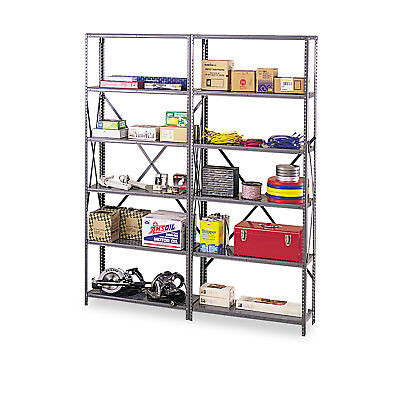 "Tennsco Industrial Post Kit for 36"" & 48"" Wide Shelves Medium Gray IPB871MGY"