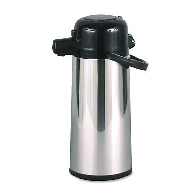 Hormel Commercial Grade 2.2L Airpot w/Push-Button Pump Stainless Steel/Black