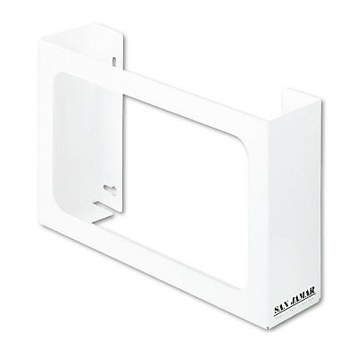 San Jamar White Enamel Disposable Glove Dispenser Three-Box 18w x 3 3/4d x 10h