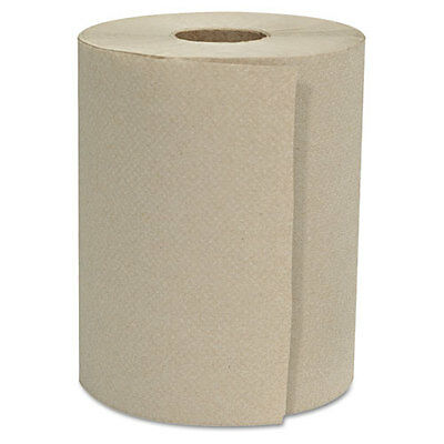 "GEN Hardwound Roll Towels 1-Ply Natural 8"" x 800 ft 6 Rolls/Carton 8X800HWTKF"
