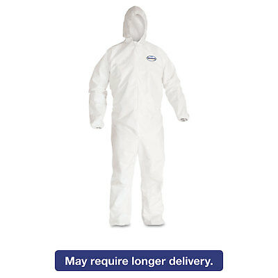 KleenGuard* A30 Elastic-Back & Cuff Hooded Coveralls White 2X-Large 25/Case