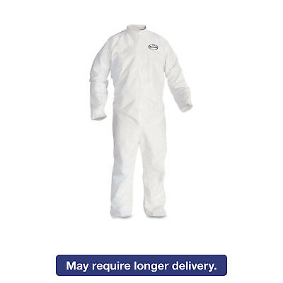KleenGuard* A30 Elastic-Back Coveralls White 2X-Large 25/Case 46005