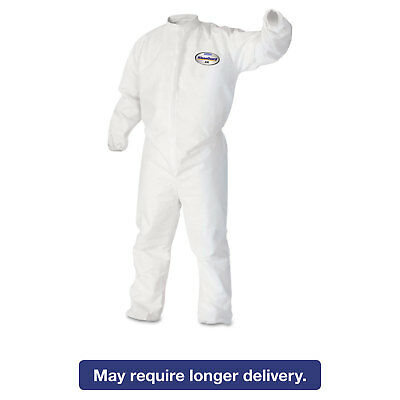 KleenGuard* A30 Elastic-Back & Cuff Coveralls White Large 25/Case 46103