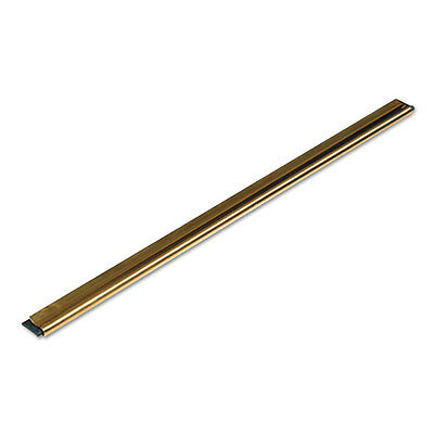 Unger Golden Clip Brass Channel with Black Rubber Blade & Clip 12 Inches