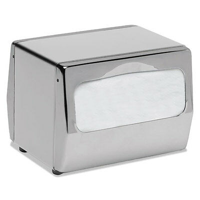 San Jamar Countertop Napkin Dispenser 7 3/4 x 6 x 5 3/4 Chrome H4001XC